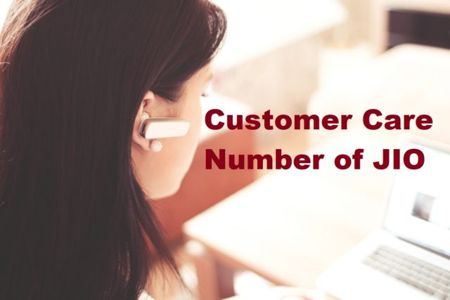 Customer Care Number of Jio