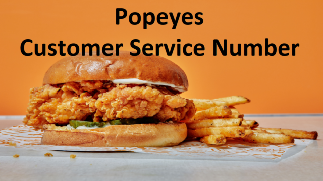 Popeyes Customer Service Number