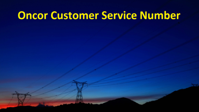 Oncor Customer Service Number